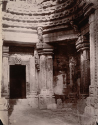 Interior of the large temple at Sohagpur.